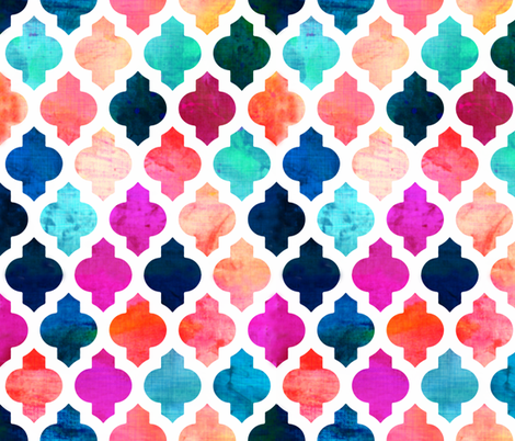 Marrakesh Moroccan Pink fabric by bruxamagica on Spoonflower - custom fabric