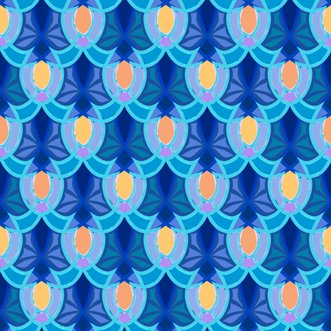 Marrakesh Architecture Blue fabric by agnessomogyi on Spoonflower - custom fabric