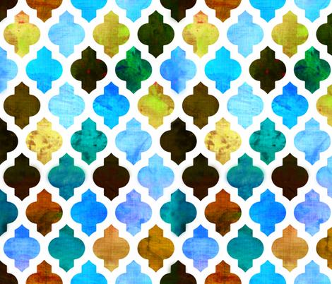 Marrakesh Moroccan Green fabric by bruxamagica on Spoonflower - custom fabric