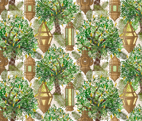 Marrakesh Morning  fabric by irishvikingdesigns on Spoonflower - custom fabric