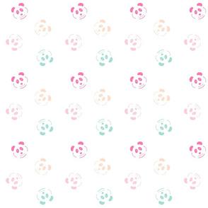 panda doodle  fun - MED514 -hot pink, pink, peach mint