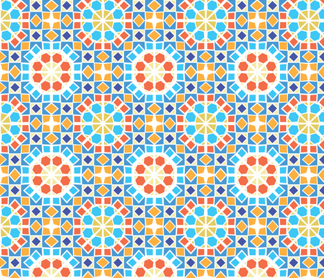 morrocan-tile-pattern-3 fabric by phein on Spoonflower - custom fabric