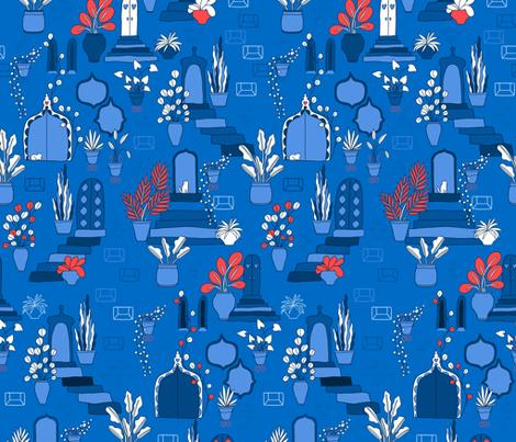 Blue dream. Marrakesh vibes. fabric by kostolom3000 on Spoonflower - custom fabric