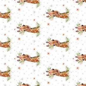 "2"" Floral Giraffe 90 degrees"