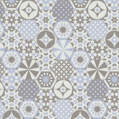 Hexagon delight fabric by ebygomm on Spoonflower - custom fabric