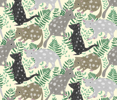 BY LAND_QUOLLS fabric by yasminah_combary on Spoonflower - custom fabric