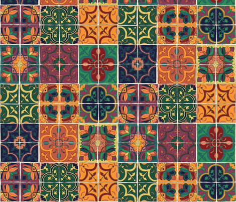 Tile in Marrakesh fabric by chipper_and_perk on Spoonflower - custom fabric