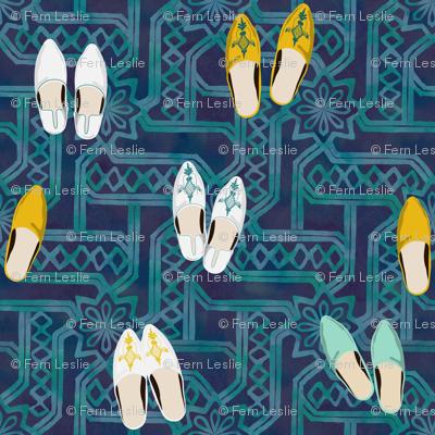 A Gathering - Marrakesh - Watercolor-18x18