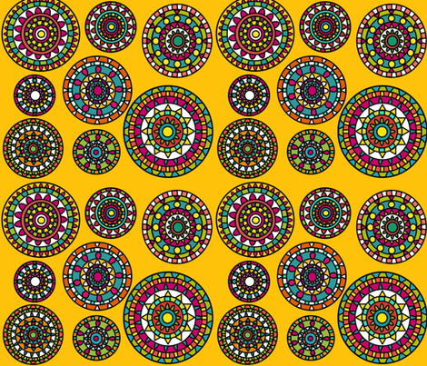 Colorful Moroccan Plates fabric by dnbmama on Spoonflower - custom fabric