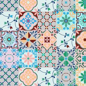 spanish tiles blue