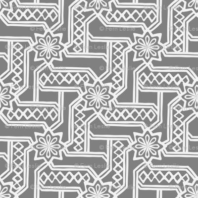 Marrakesh Maze -Gray