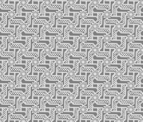 Marrakesh Maze -Gray fabric by fernlesliestudio on Spoonflower - custom fabric