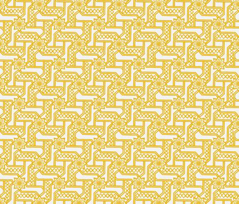 Marrakesh Maze -Bright Yellow, Chalk fabric by fernlesliestudio on Spoonflower - custom fabric