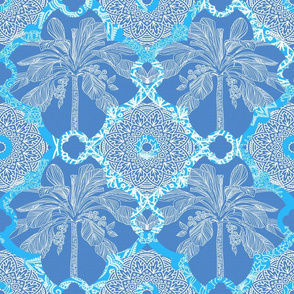 Marrakesh Oasis Cornflower Blue