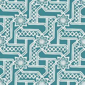 Marrakesh Maze -Teal