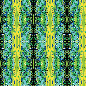 Abstract art, rainbow trout in fiestas green