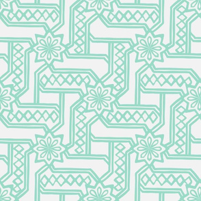 Marrakesh Maze - Chalk, Mint