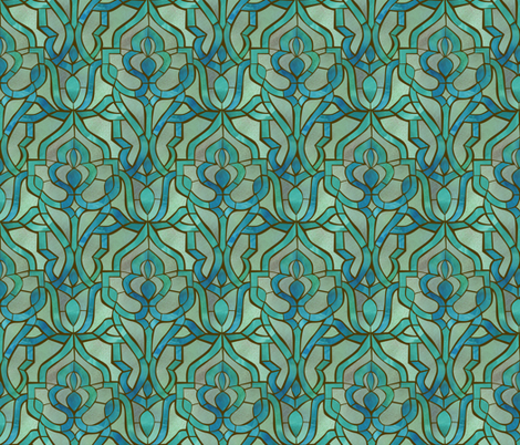 Marrakesh Mosaic fabric by ceciliamok on Spoonflower - custom fabric
