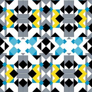 Bright yellow geometrical pattern