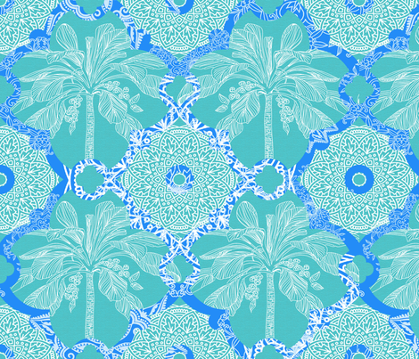 Palm Oasis  fabric by honoluludesign on Spoonflower - custom fabric