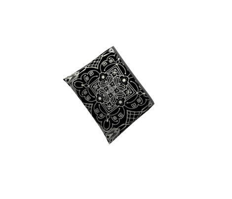 Marrakesh Pottery Tile, Black and Bone, Medium