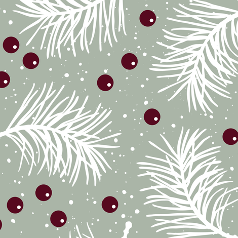 Elegant Holiday fabric by malibu_creative on Spoonflower - custom fabric