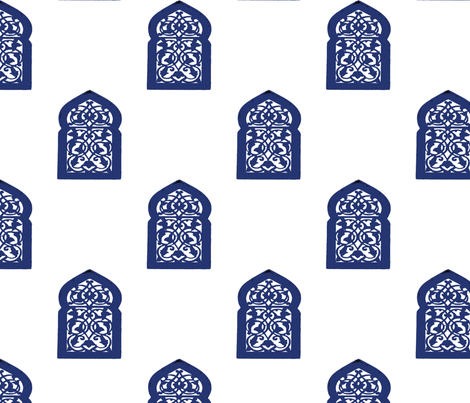 Marrakesh Majorelle Window fabric by stoneamazon on Spoonflower - custom fabric