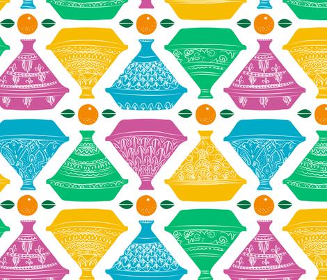Tagines & Tangerines fabric by lellobird on Spoonflower - custom fabric