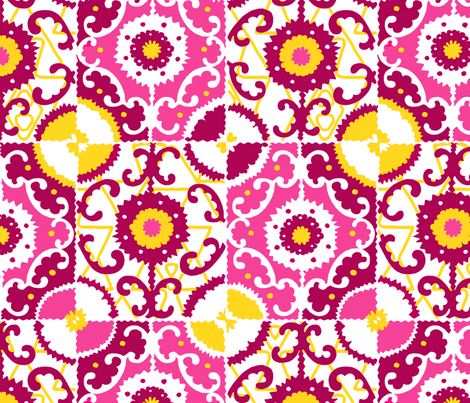 Moroccan tile fabric by tailofthedog on Spoonflower - custom fabric