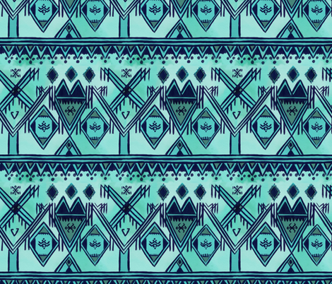 cool tone morocco fabric by allison_crary on Spoonflower - custom fabric