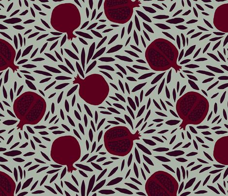 POMEGRANATES fabric by nadinewestcott on Spoonflower - custom fabric
