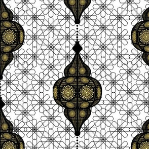 moroccan lanterns black