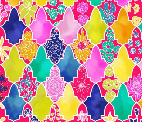 Marrakesh Floral Tiles fabric by stasiajahadi on Spoonflower - custom fabric