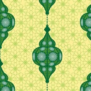 moroccan lantern green