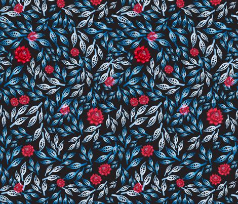 Gradient blossom fabric by anastasia_buchinskaya on Spoonflower - custom fabric