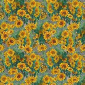 """monet's sunflowers (tiny 4"""")"""