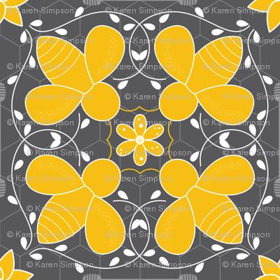 Honey Bee Moroccan Tile