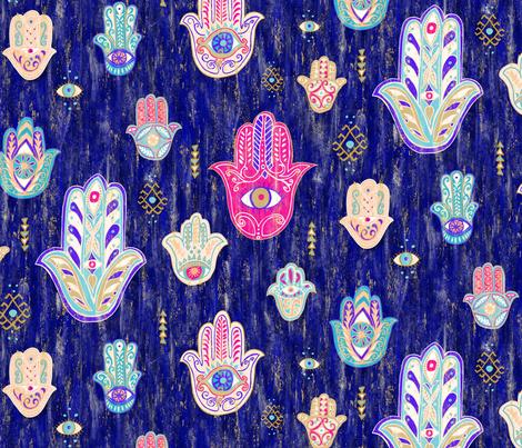 Marrakesh Hamsa fabric by byre_wilde on Spoonflower - custom fabric