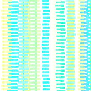 Boardwalk Stripes Turquoise Lime on White 300