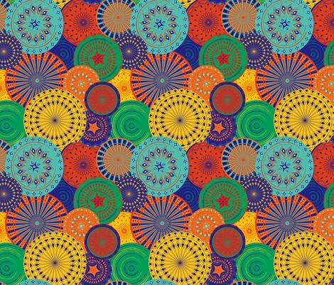 Marrakesh- Plates display fabric by artypeaches on Spoonflower - custom fabric