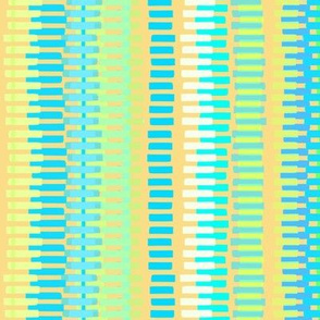Boardwalk Stripes Turquoise on Gold 300