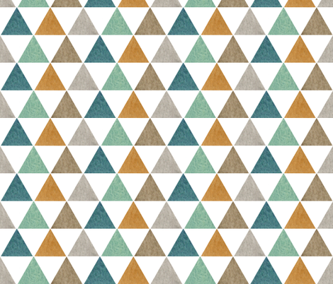 Watercolor Triangles fabric by bluebirdcoop on Spoonflower - custom fabric