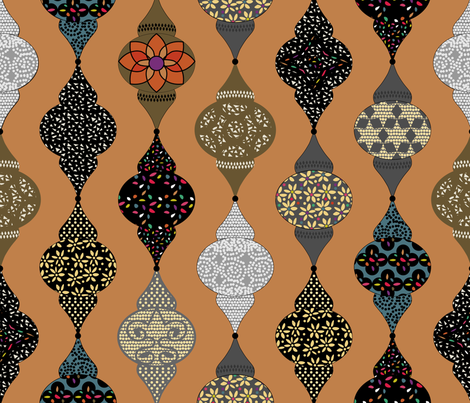 Moroccan Lanterns -  Marrakech fabric by goatfeatherfarm on Spoonflower - custom fabric