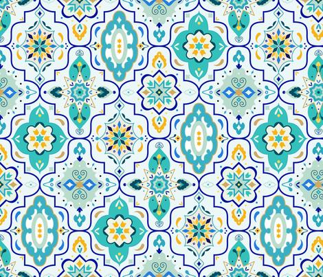 Marrakech Lantern Tiles fabric by zirkus_design on Spoonflower - custom fabric