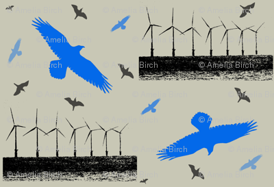 Air - birds and wind turbines