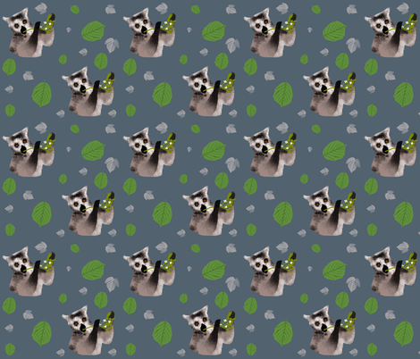 Lemurs fabric by redthanet on Spoonflower - custom fabric