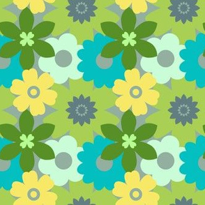 Vintage Retro Flower Pattern