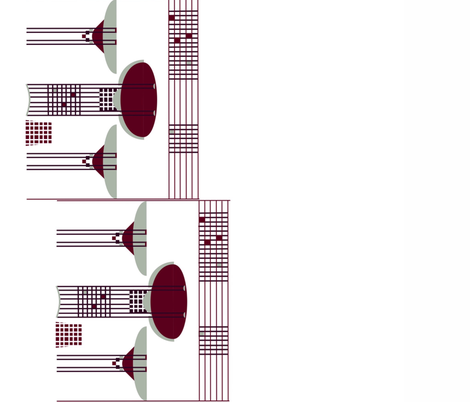 A la CR Mackintosh for the Holidays fabric by twilfley on Spoonflower - custom fabric