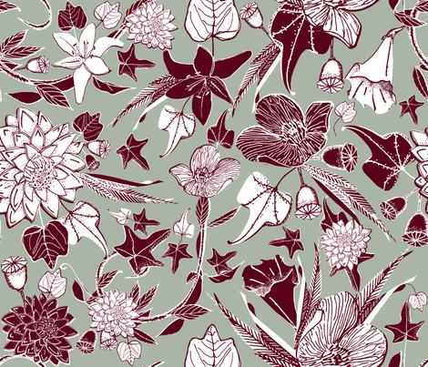 winter florals fabric by craftwithcartwright on Spoonflower - custom fabric