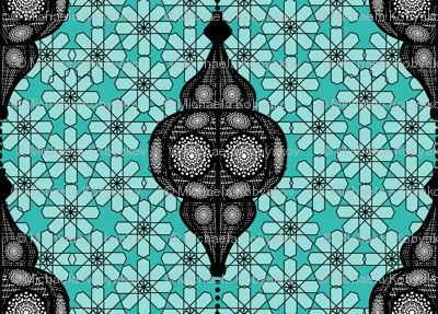 moroccan lantern turquoise